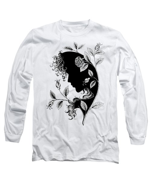 Elf In Roses Long Sleeve T-Shirt by Magdalene's Art