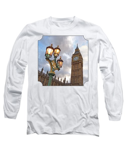 Evening Light At Big Ben Long Sleeve T-Shirt by Gill Billington