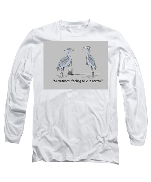 Feeling Blue Long Sleeve T-Shirt by Levi Soucy