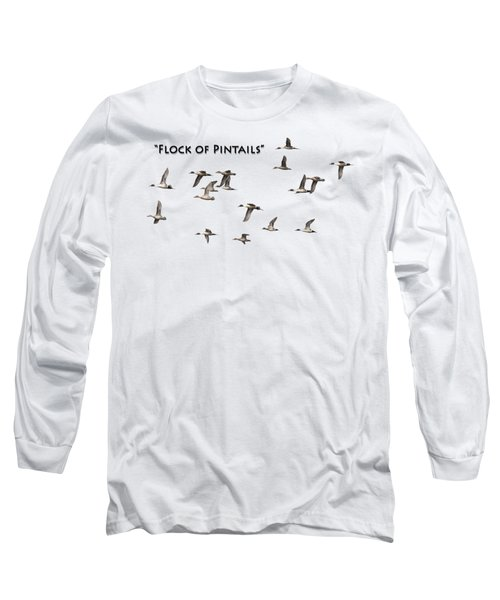 Flock Of Pintails Long Sleeve T-Shirt by Thomas Young
