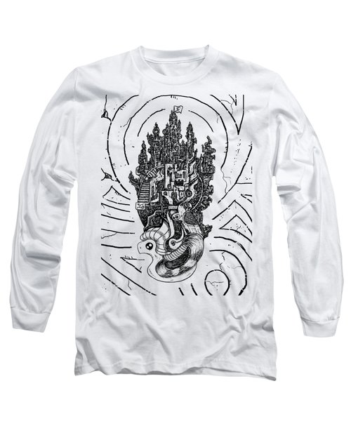 Flying Castle Long Sleeve T-Shirt by Erki Schotter
