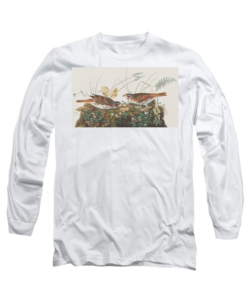 Fox Sparrow Long Sleeve T-Shirt by John James Audubon