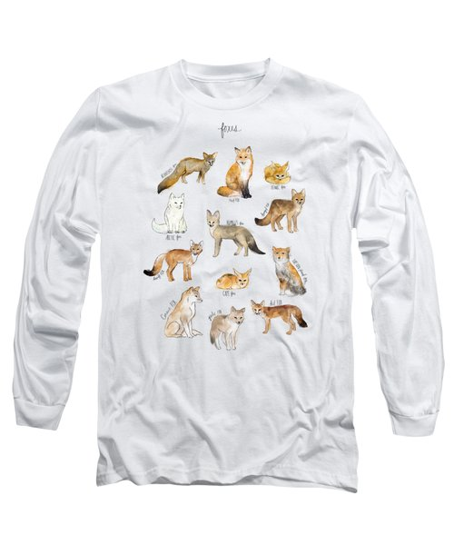 Foxes Long Sleeve T-Shirt by Amy Hamilton