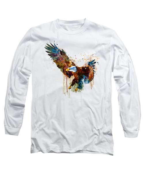 Free And Deadly Eagle Long Sleeve T-Shirt by Marian Voicu