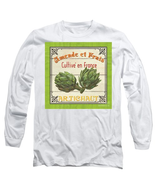 French Vegetable Sign 2 Long Sleeve T-Shirt by Debbie DeWitt