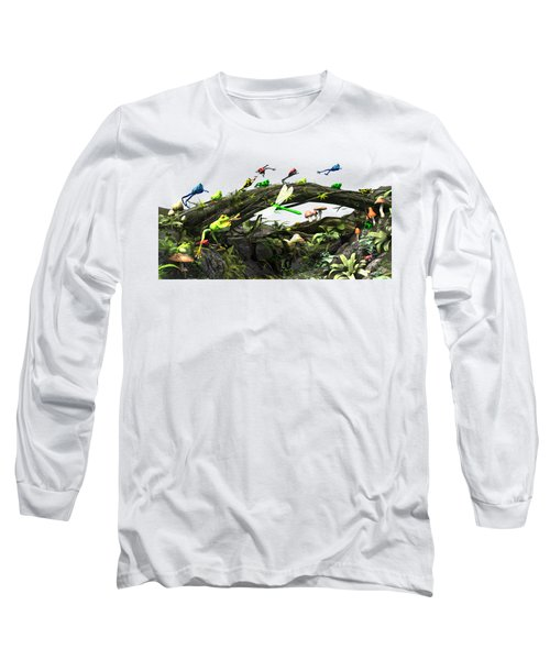 Frog Glen Long Sleeve T-Shirt by Methune Hively
