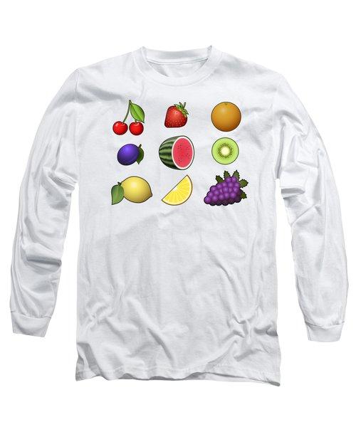 Fruits Collection Long Sleeve T-Shirt by Miroslav Nemecek