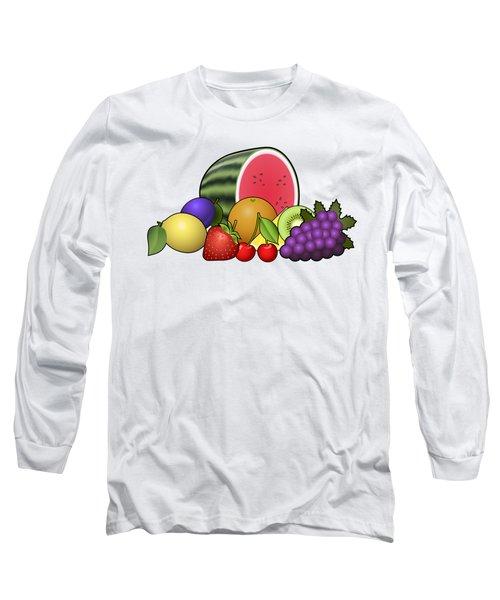 Fruits Heap Long Sleeve T-Shirt by Miroslav Nemecek