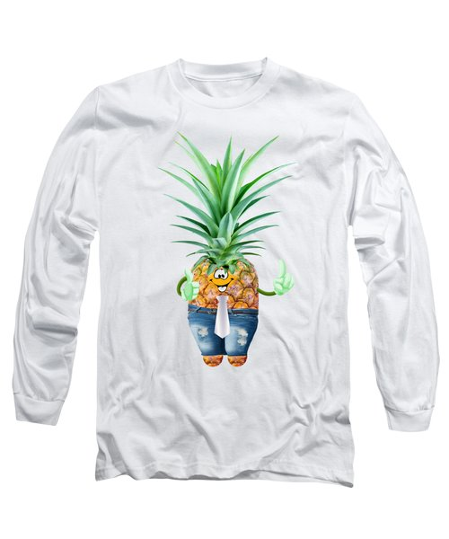 Fun Pineapple  Long Sleeve T-Shirt by Elena Nikolaeva