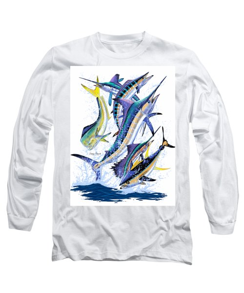 Gamefish Digital Long Sleeve T-Shirt by Carey Chen