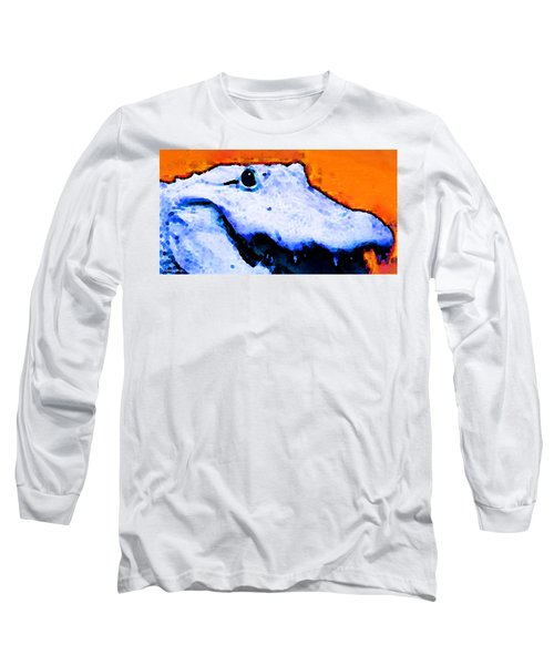 Gator Art - Swampy Long Sleeve T-Shirt by Sharon Cummings