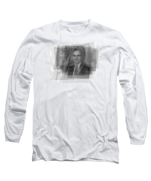 George H. W. Bush Long Sleeve T-Shirt by Steve Socha