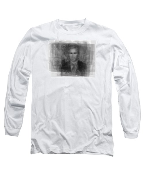 George W. Bush Long Sleeve T-Shirt by Steve Socha