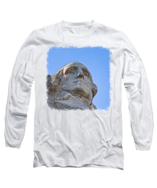 George Washington 3 Long Sleeve T-Shirt by John M Bailey
