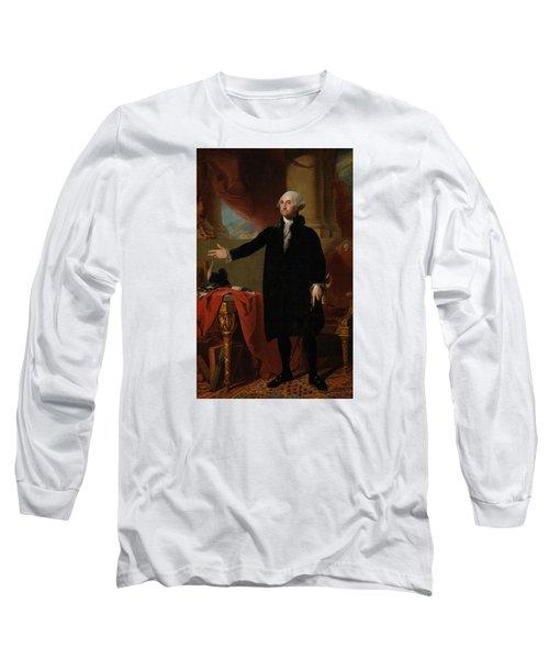 George Washington Lansdowne Portrait Long Sleeve T-Shirt by War Is Hell Store