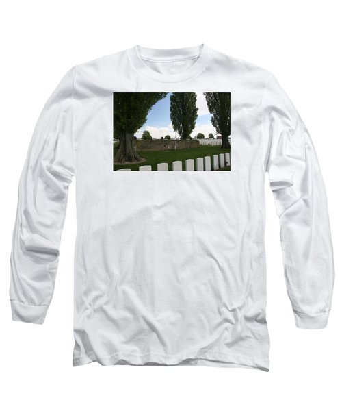 Long Sleeve T-Shirt featuring the photograph German Bunker At Tyne Cot Cemetery by Travel Pics