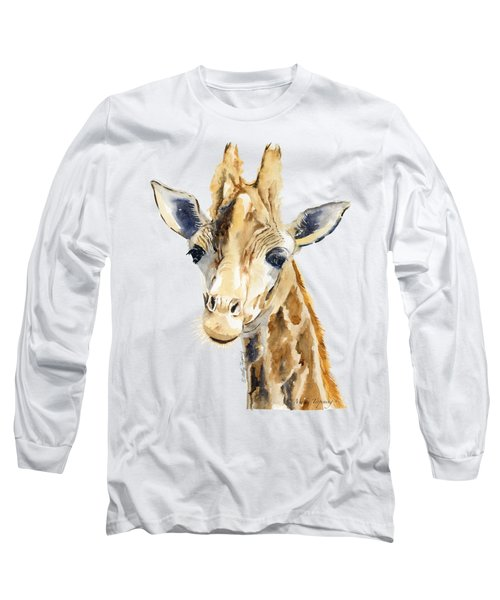 Giraffe Watercolor Long Sleeve T-Shirt by Melly Terpening