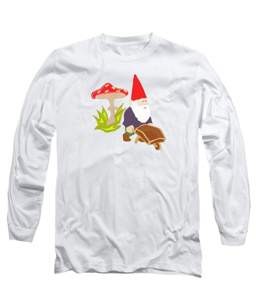 Gnome Garden Long Sleeve T-Shirt by Priscilla Wolfe