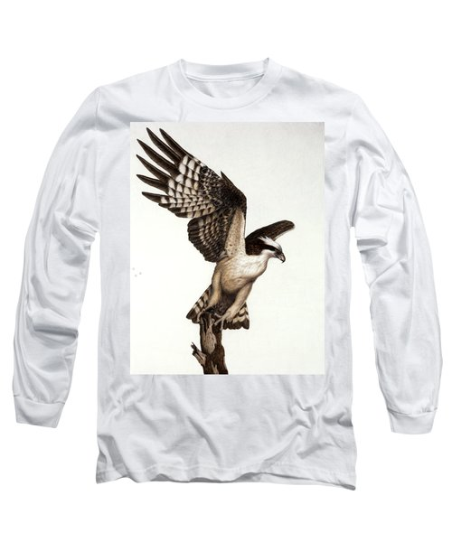 Going Fishin' Osprey Long Sleeve T-Shirt by Pat Erickson