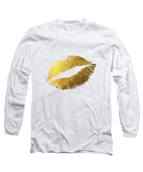 Gold Lips Long Sleeve T-Shirt by Bekare Creative