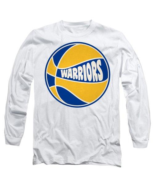Golden State Warriors Retro Shirt Long Sleeve T-Shirt by Joe Hamilton