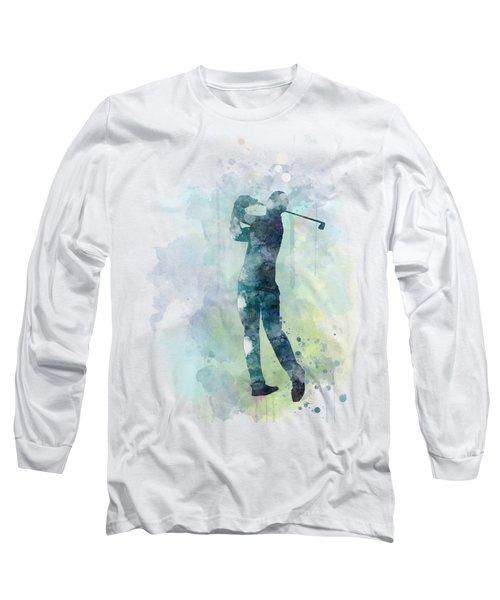 Golf Player  Long Sleeve T-Shirt by Marlene Watson