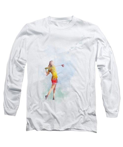 Golfer Long Sleeve T-Shirt by Marlene Watson