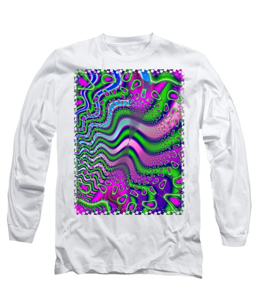 Goose Berries Psychedelic Fractal Long Sleeve T-Shirt by Sharon and Renee Lozen
