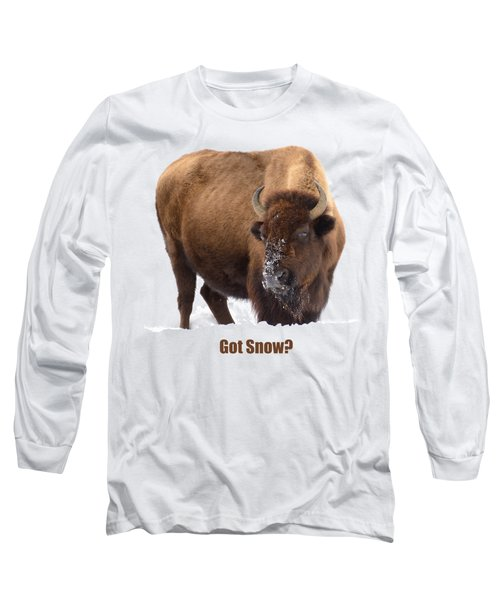 Got Snow? Long Sleeve T-Shirt by Greg Norrell