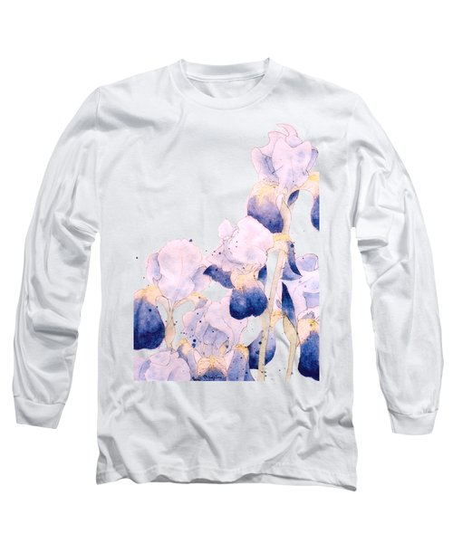 Graceful Iris Long Sleeve T-Shirt by Gail Maguire
