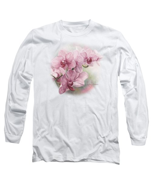 Graceful Orchids Long Sleeve T-Shirt by Lucie Bilodeau