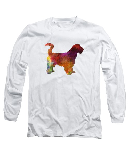 Grand Griffon Vendeen In Watercolor Long Sleeve T-Shirt by Pablo Romero