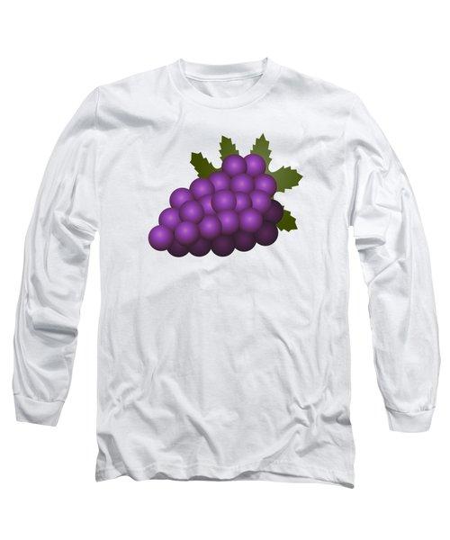 Grapes Fruit Long Sleeve T-Shirt by Miroslav Nemecek