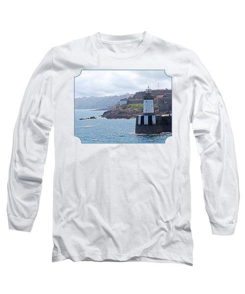 Guernsey Lighthouse Long Sleeve T-Shirt by Gill Billington