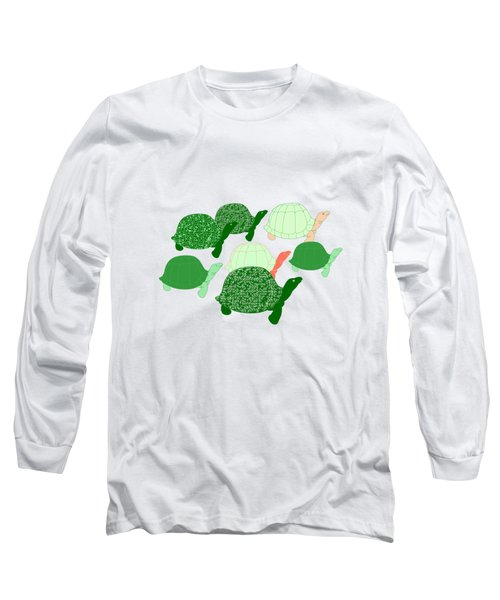 Herd Of Turtles Pattern Long Sleeve T-Shirt by Methune Hively