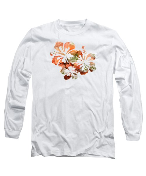 Hibiscus Flowers Long Sleeve T-Shirt by Art Spectrum