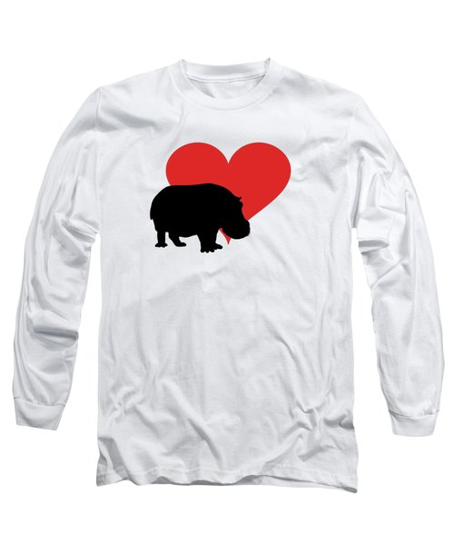 Hippopotamus Long Sleeve T-Shirt by Mordax Furittus