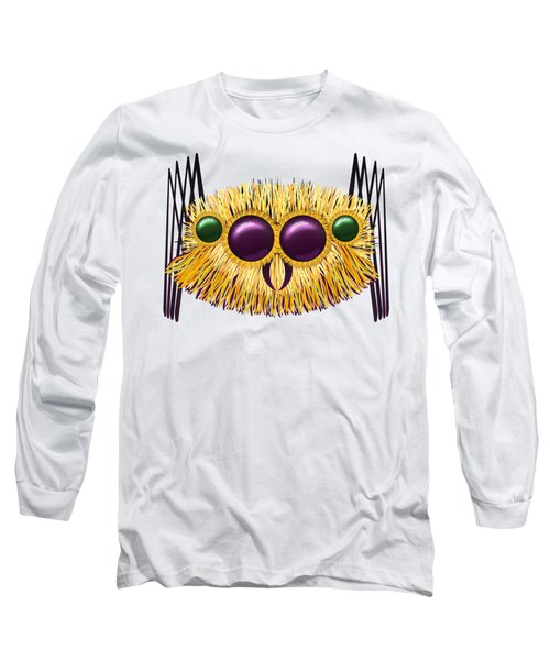 Huge Hairy Spider Long Sleeve T-Shirt by Michal Boubin