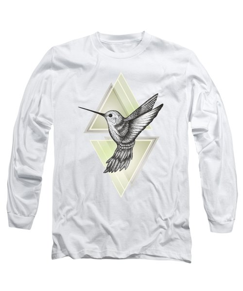 Hummingbird Long Sleeve T-Shirt by Barlena