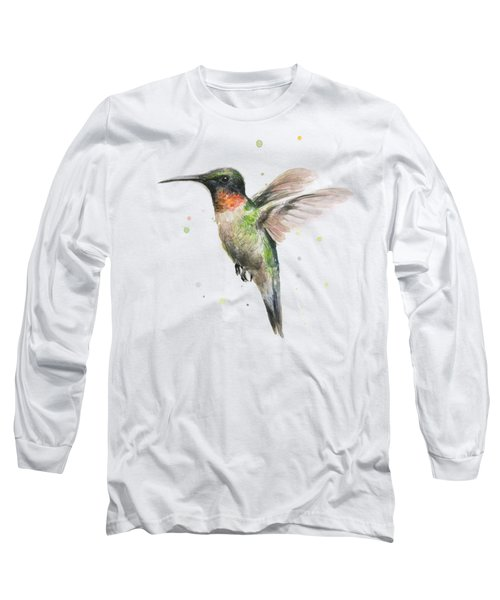 Hummingbird Long Sleeve T-Shirt by Olga Shvartsur