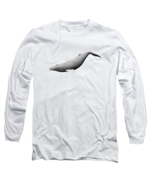 Humpback Whale Swim Long Sleeve T-Shirt by Selinda Van Horn