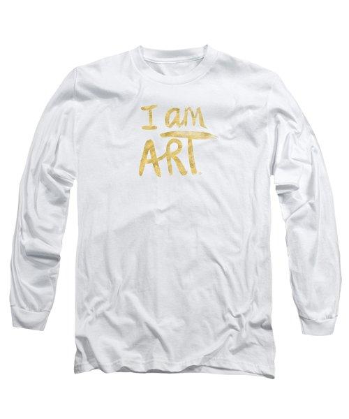 I Am Art Gold - Art By Linda Woods Long Sleeve T-Shirt by Linda Woods