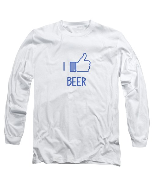 I Like Beer Long Sleeve T-Shirt by Citronella Design