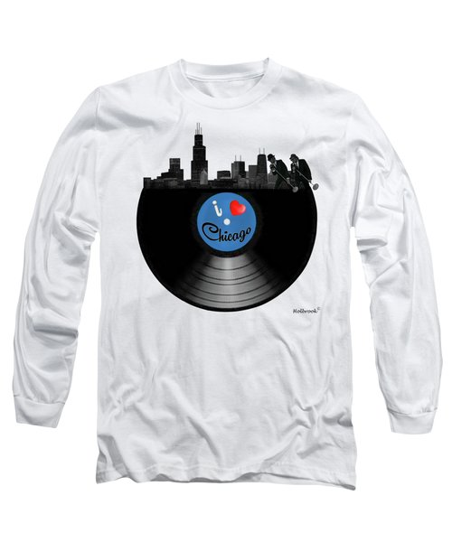 I Love Chicago Long Sleeve T-Shirt by Glenn Holbrook