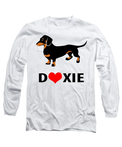 I Love My Doxie Long Sleeve T-Shirt by Antique Images