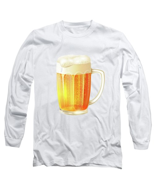 Ice Cold Beer Pattern Long Sleeve T-Shirt by Little Bunny Sunshine