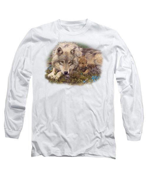 In A Safe Place Long Sleeve T-Shirt by Lucie Bilodeau