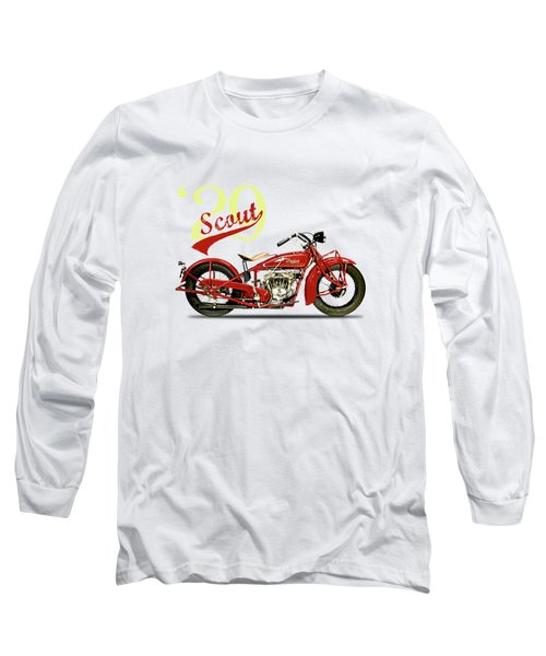 Indian Scout 101 1929 Long Sleeve T-Shirt by Mark Rogan