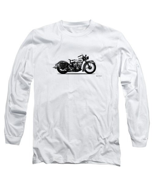 Indian Sport Scout 1939  Long Sleeve T-Shirt by Mark Rogan