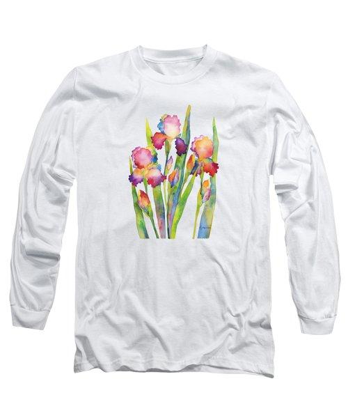 Iris Elegance Long Sleeve T-Shirt by Hailey E Herrera